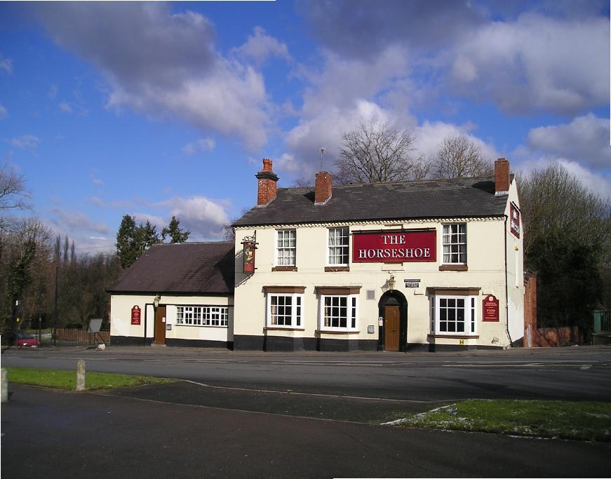 The Horseshoe Inn Pub Kings Heath Stratford upon Avon Canal Photo